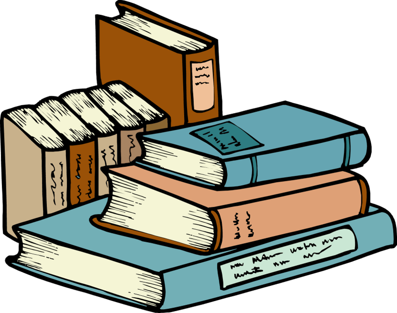 Cartoon Stack Of Books Group