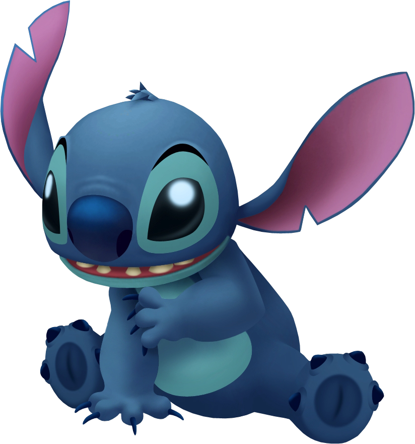 Stitch clipart blue. Kingdom hearts wiki end