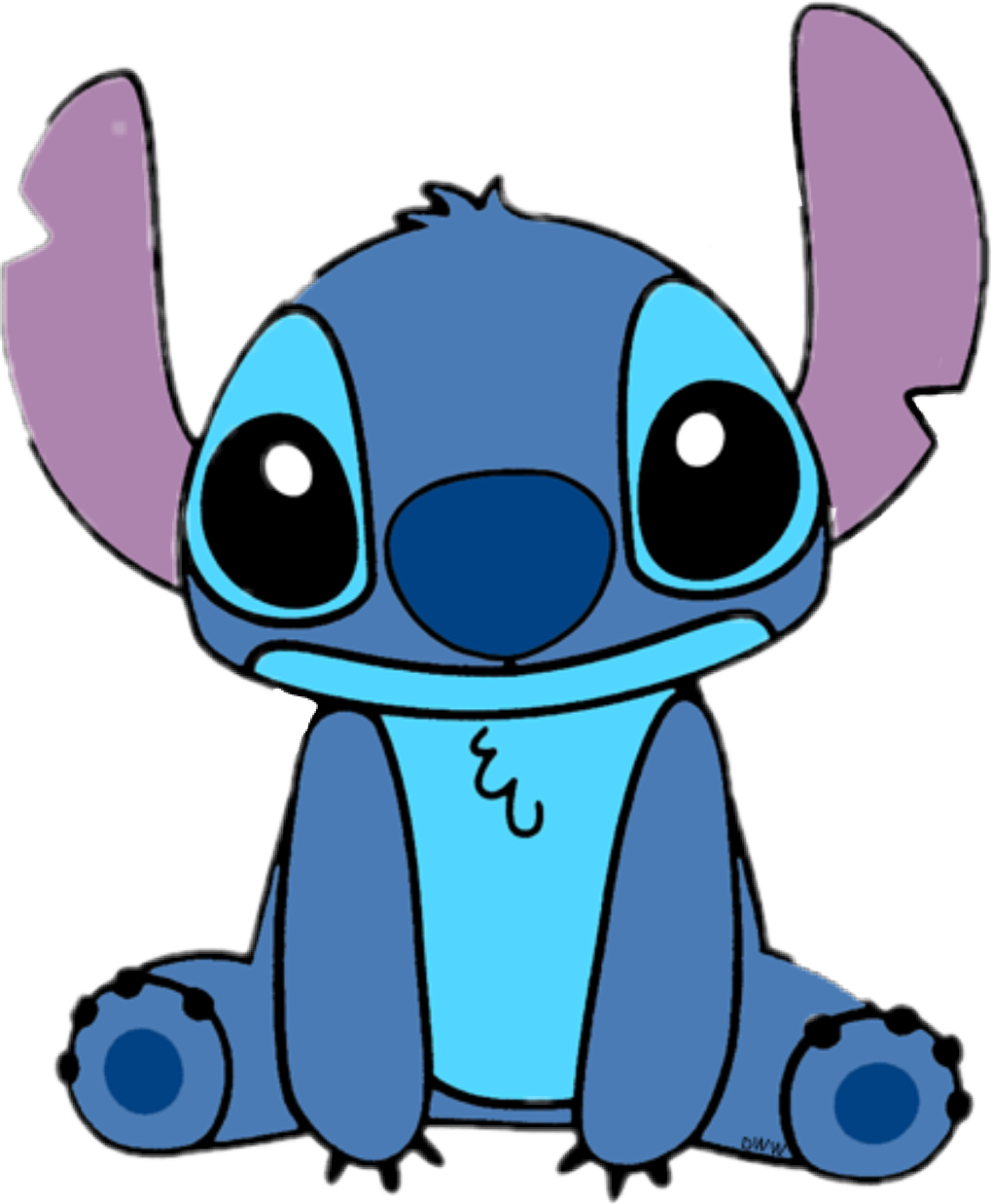 Sticker by camila santellan. Stitch clipart blue