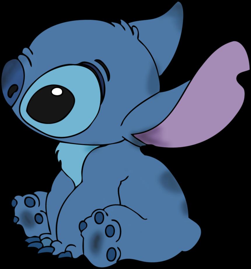Stitch clipart blue. Stiker freetoedit