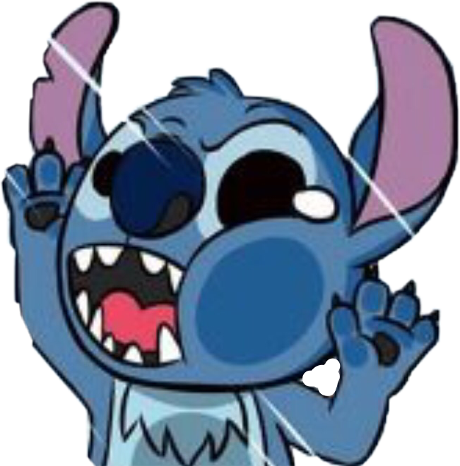 Stitch clipart blue. Disney sticker alien cute