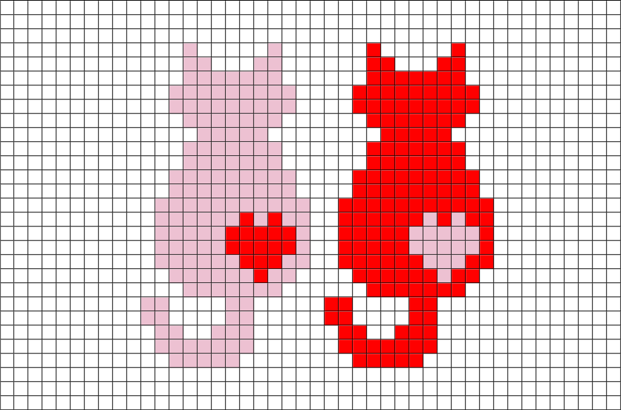 Stitch clipart cross stitch. Cats pixel art love