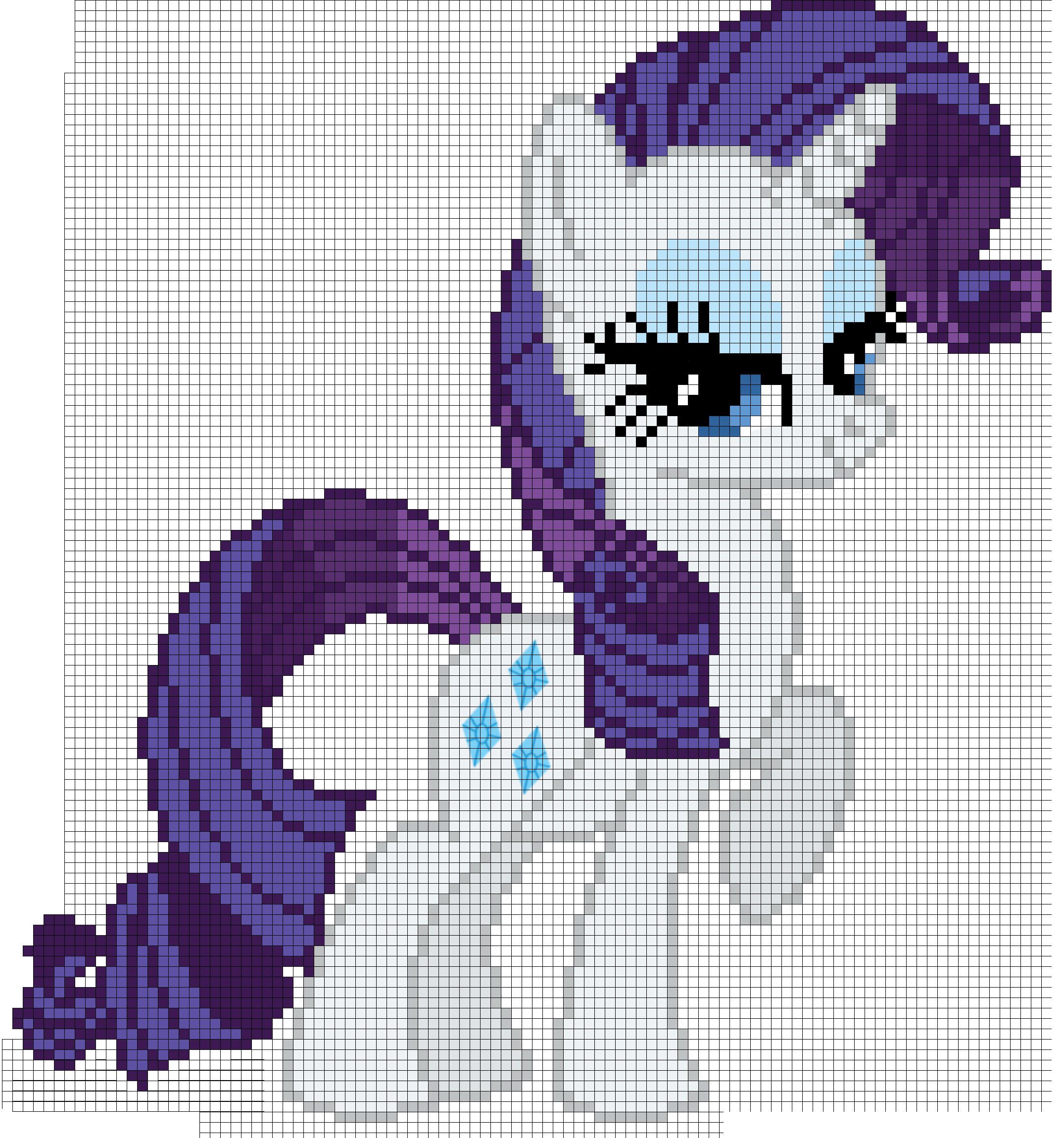 My little pony rarity. Stitch clipart cross stitch