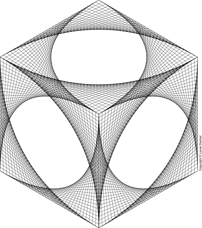 Curve isometric cube curvestitch. Stitch clipart curved