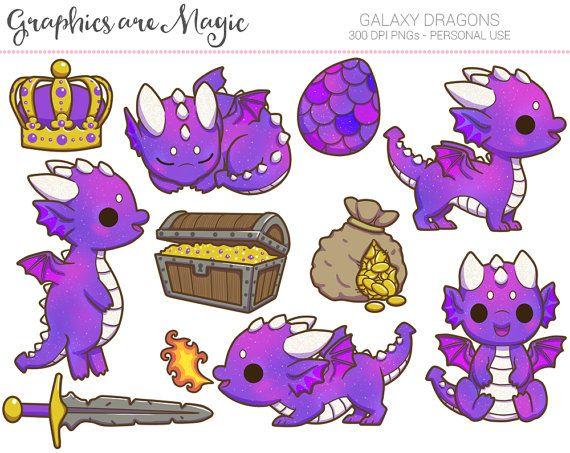 Dragons digital graphics by. Stitch clipart galaxy