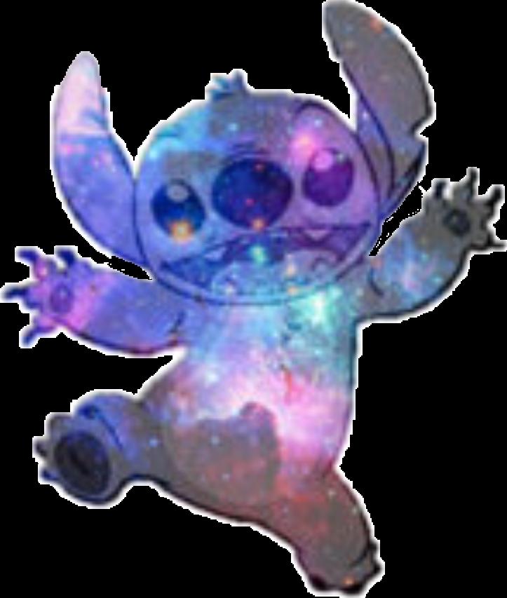 Sticker by lorena voineag. Stitch clipart galaxy