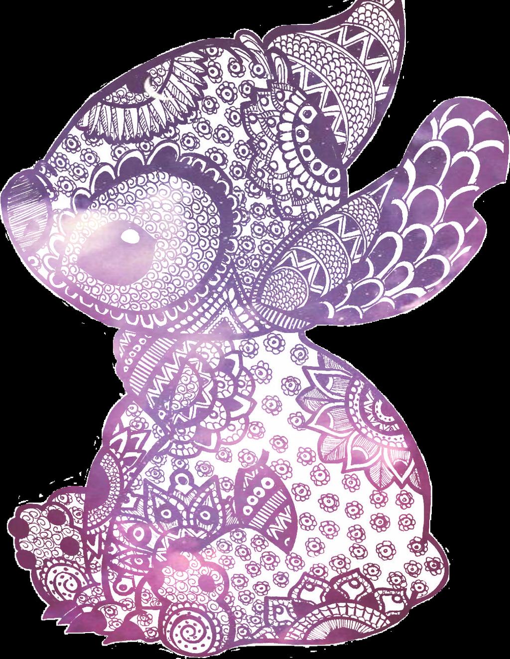 Stitch clipart galaxy. Cute sticker by b