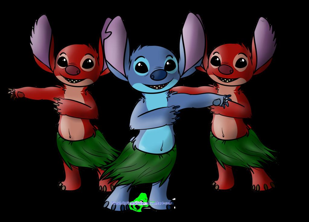 Stitch clipart leroy. And hula by thewolfsfirstwinter