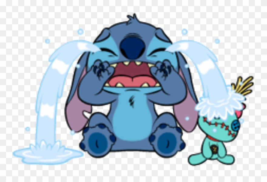 Stitch clipart stich. Crying liloandstich lilo fanart