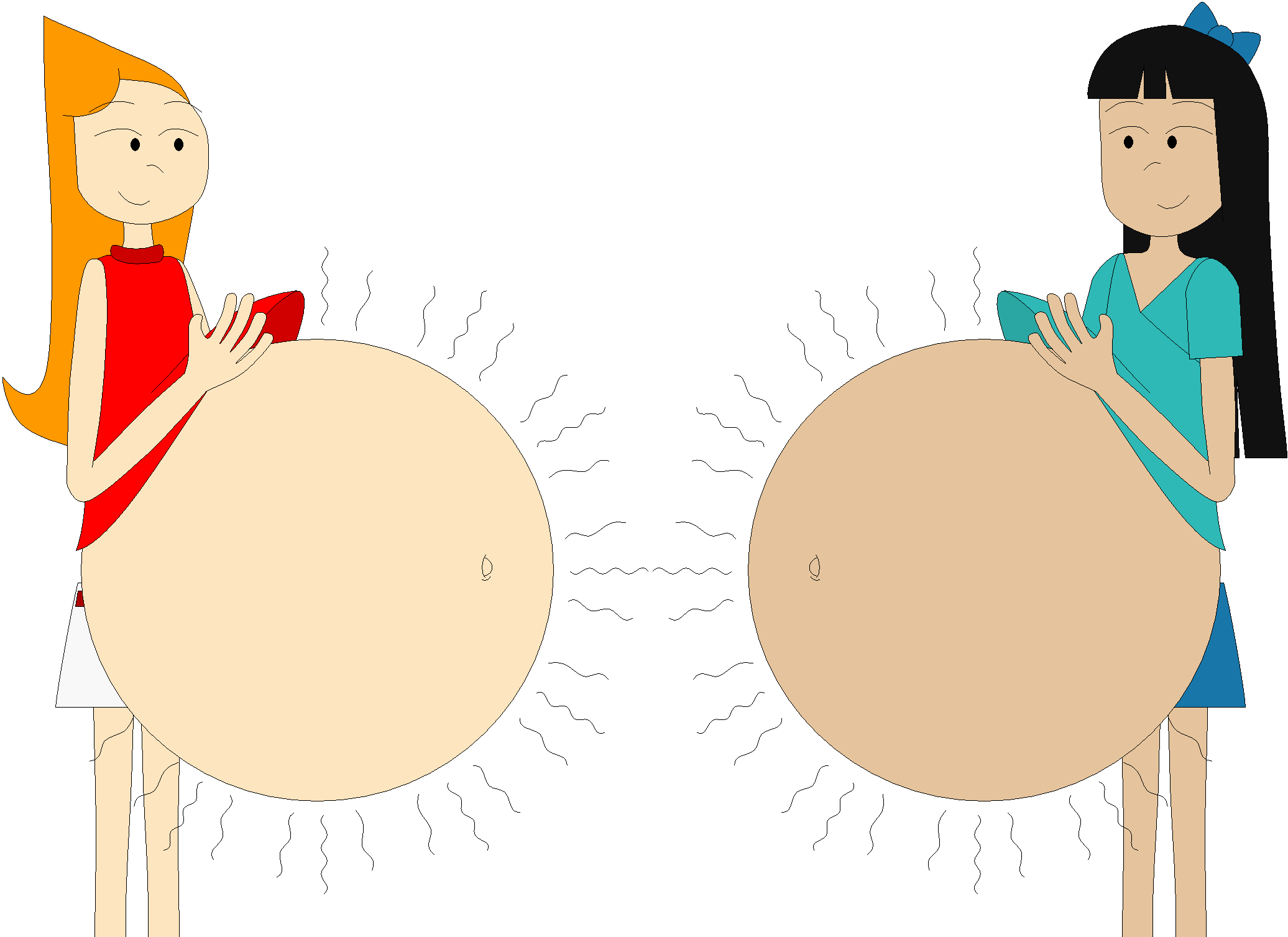 Candace flynn and stacy. Stomach clipart pregnant stomach
