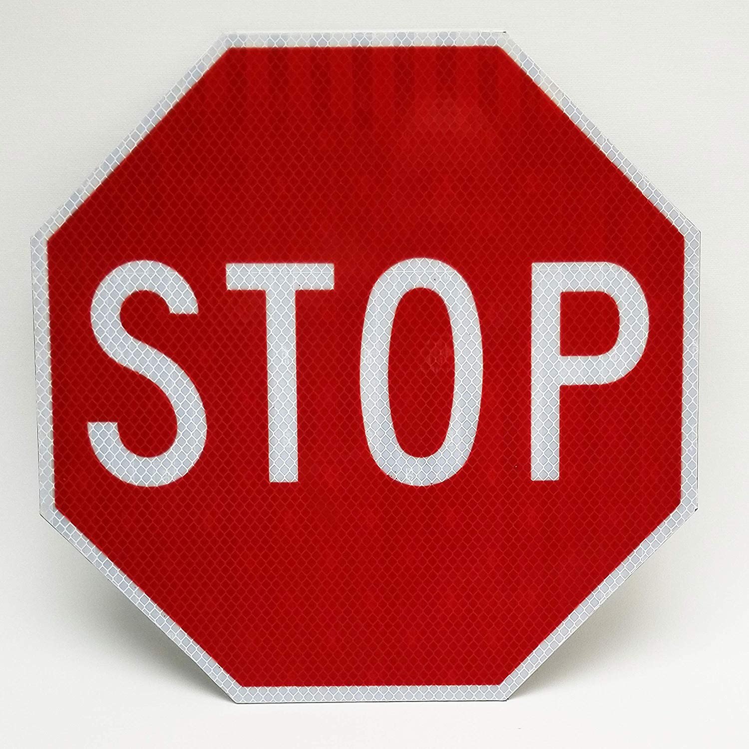 Highway traffic supply sign. Stop