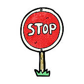 Sign clip art royalty. Stop clipart