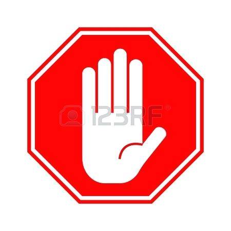 Sign with hand clip. Stop clipart