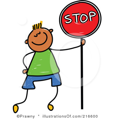 Sign black and white. Stop clipart