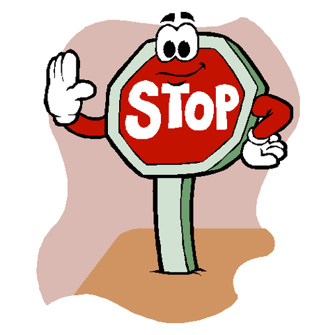 The top best blogs. Stop clipart