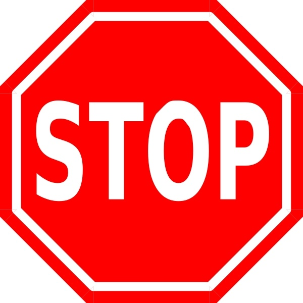 Free vector in open. Stop sign clip art