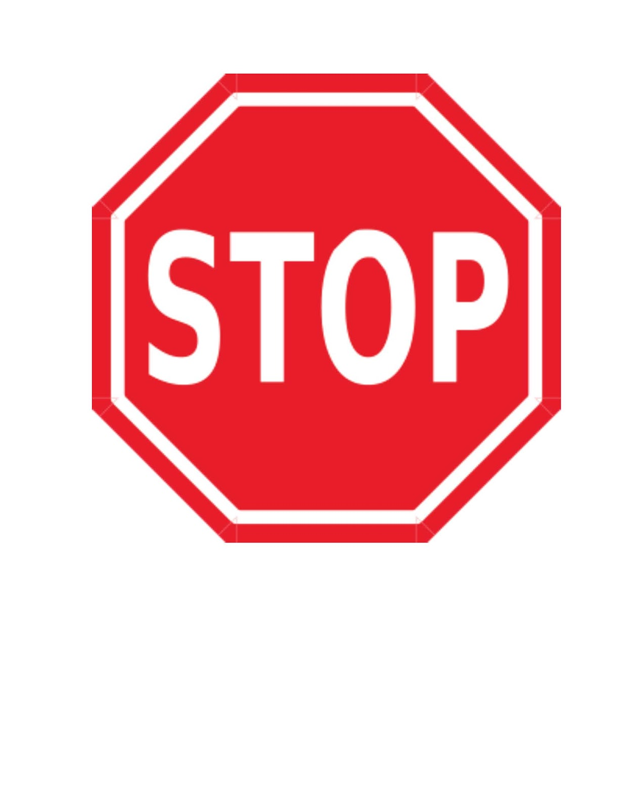 Free image download . Stop sign clip art
