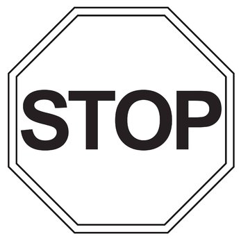 Stop sign clip art. Free and go by