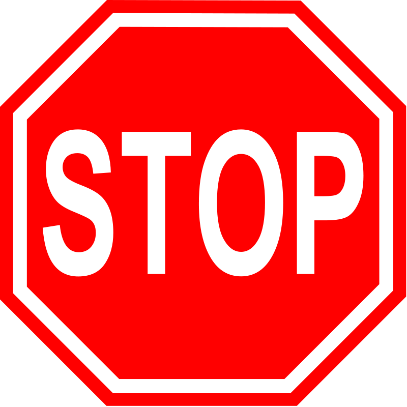 Stop sign clip art black. Clipart and white panda