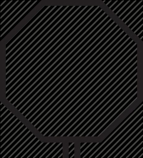 Iconfinder elite vehicle navigation. Stop sign clip art black