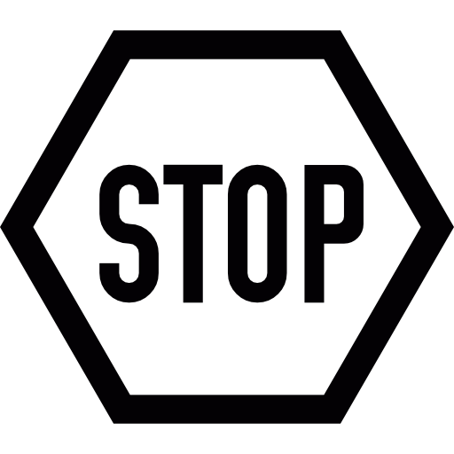 Stop sign clip art black. Free signs icons icon