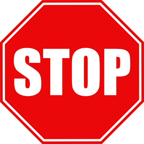 vector images. Stop sign clip art black