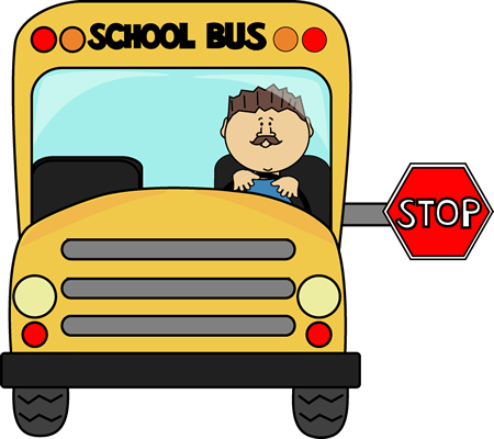 Stop sign clip art black. School bus images yellow