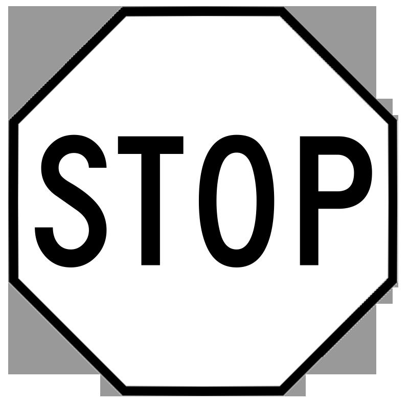 Images . Stop sign clip art black