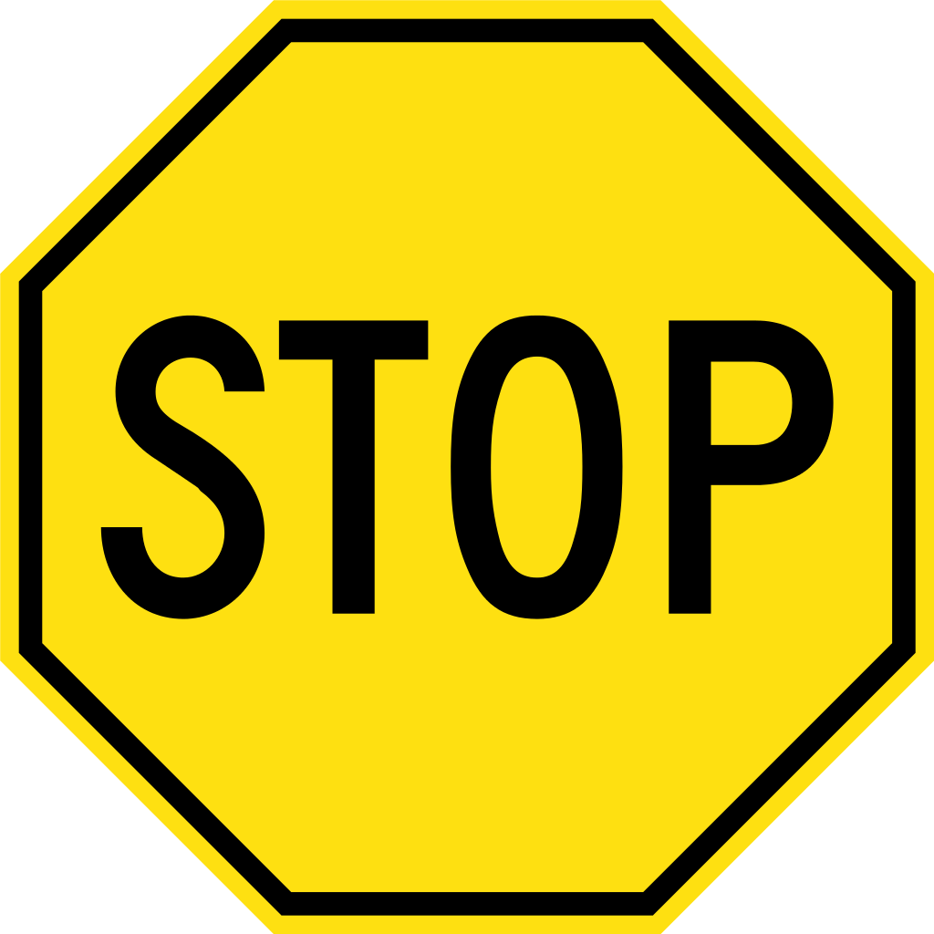 Stop sign clip art black. File yellow svg wikimedia