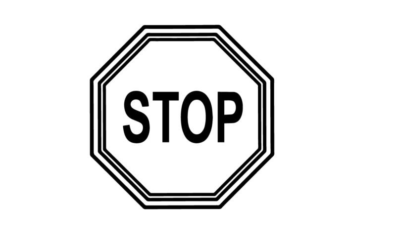 Free clipart and white. Stop sign clip art black