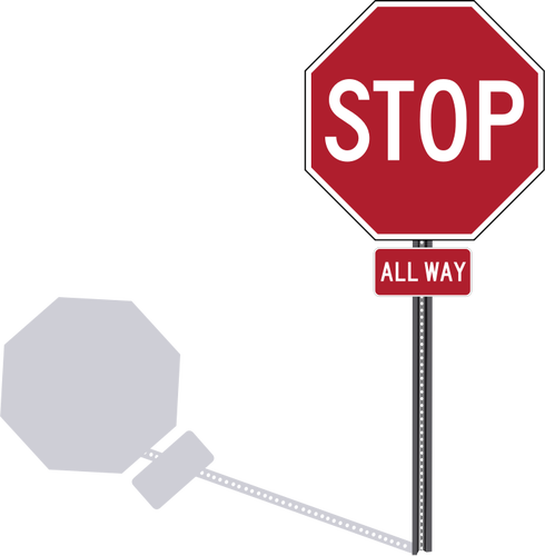 stop sign clip art holding