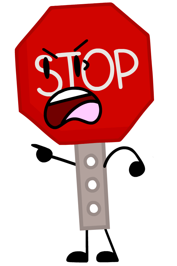 Stop sign object lockdown. Yelling clipart scolded
