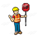 Stop sign clip art holding. Abeka toy construction worker