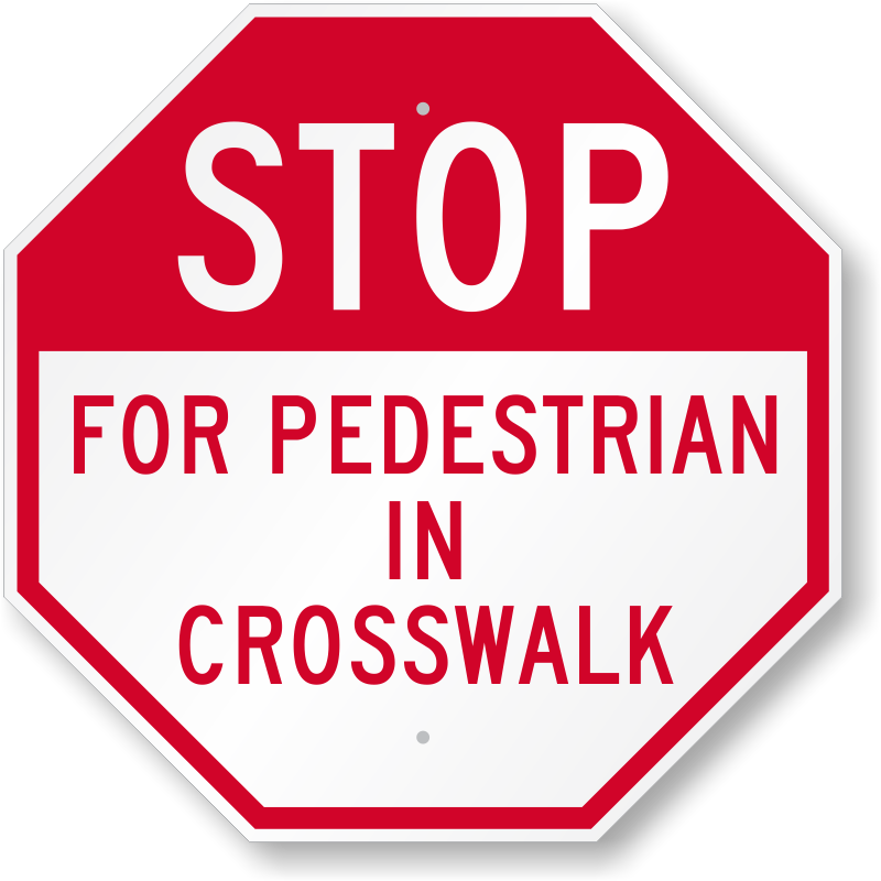 For pedestrian signs zoom. Stop sign clip art white
