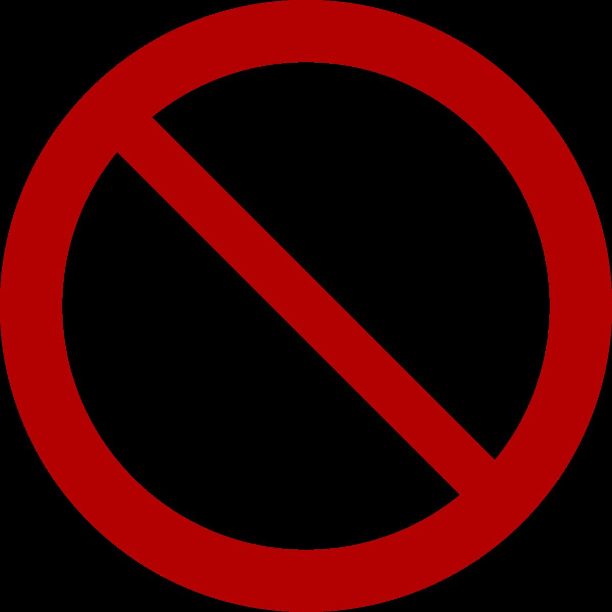 No symbol wikipedia . Thumb clipart circle