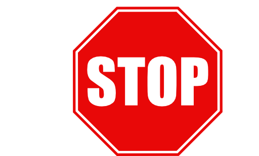 The top best blogs. Stop sign clip art white