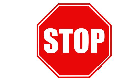 stop sign clip art white