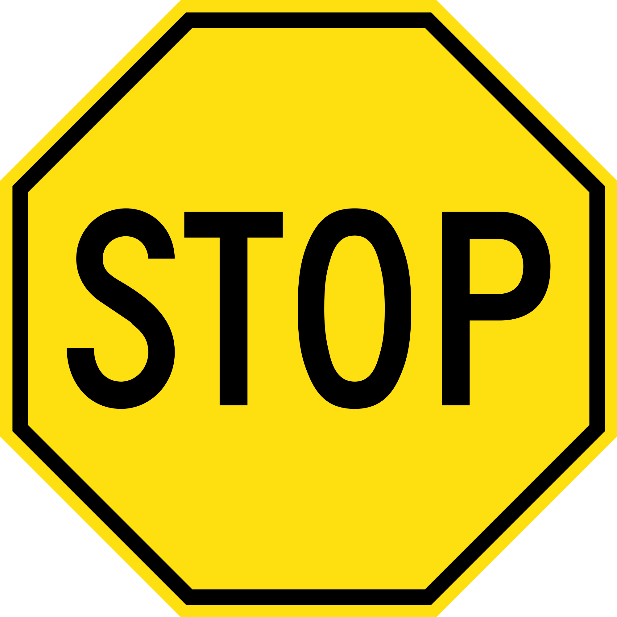 Stop sign clip art white. File yellow svg wikimedia