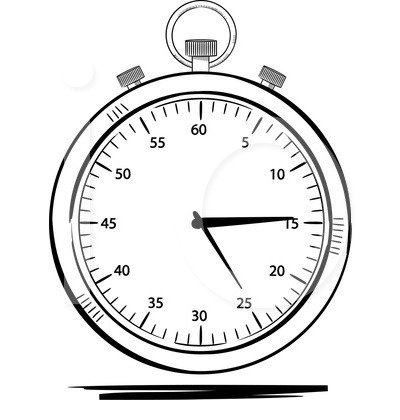 Stopwatch clipart. Black and white panda