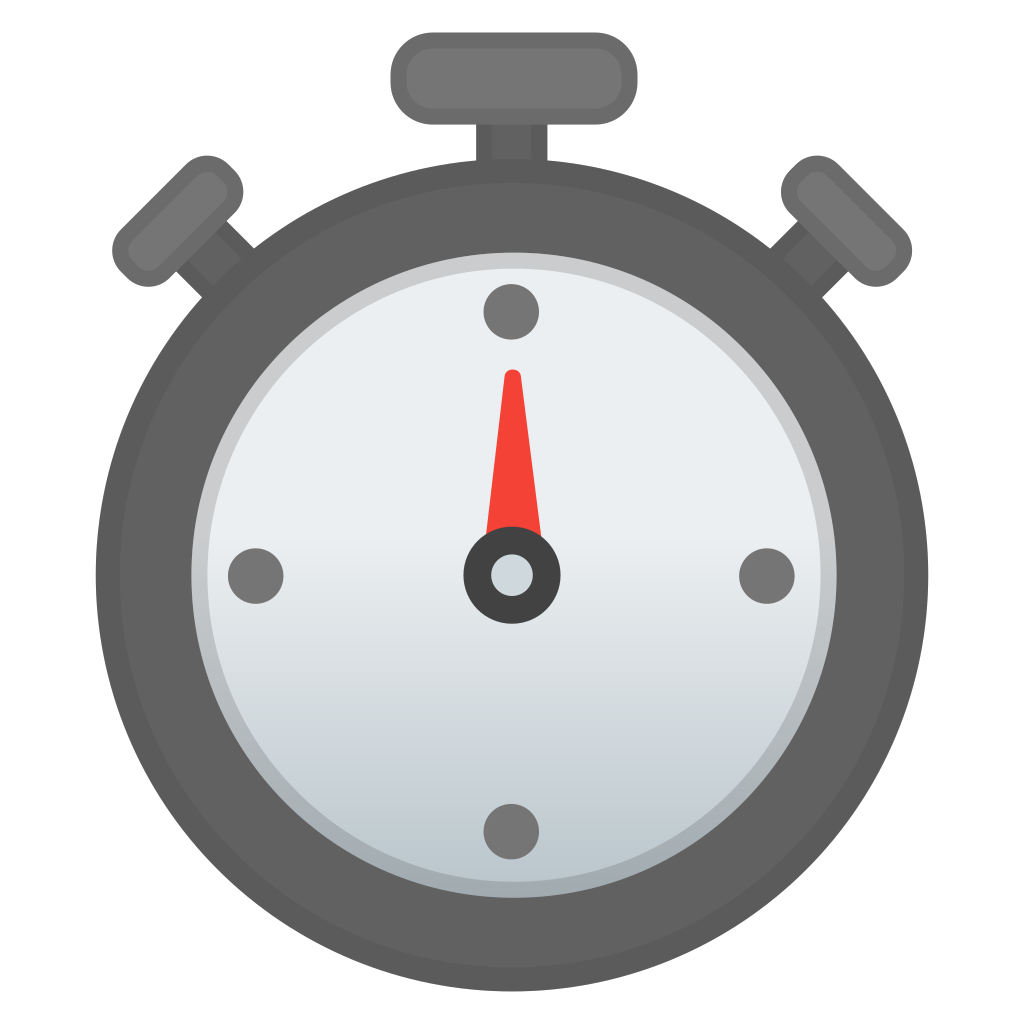 Icon noto travel places. Stopwatch clipart emoji