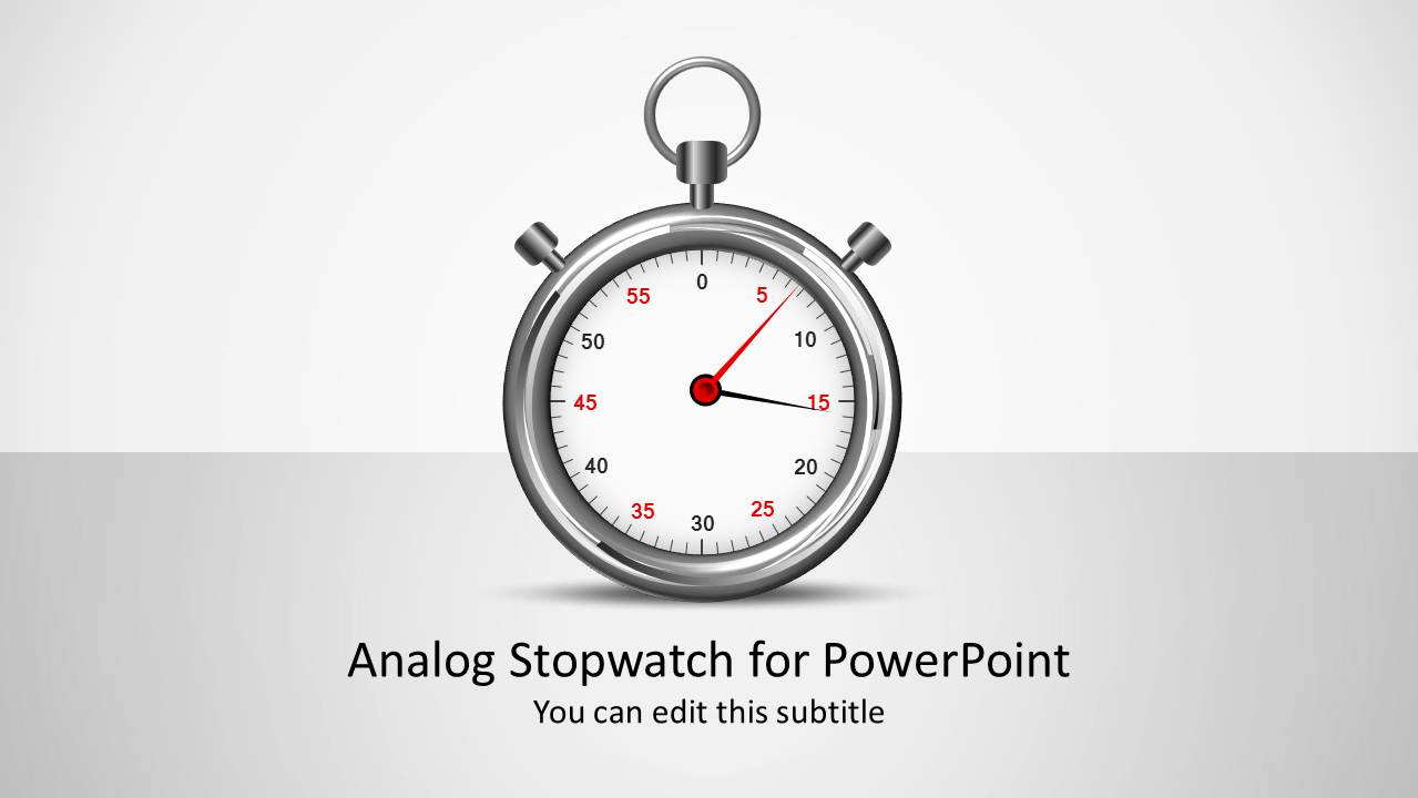 Analog shapes for . Stopwatch clipart powerpoint