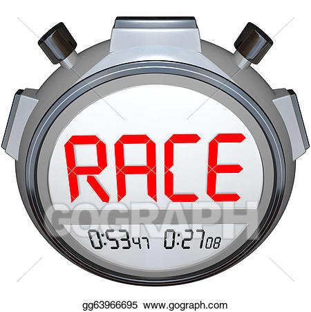 Stock illustrations records race. Stopwatch clipart racing