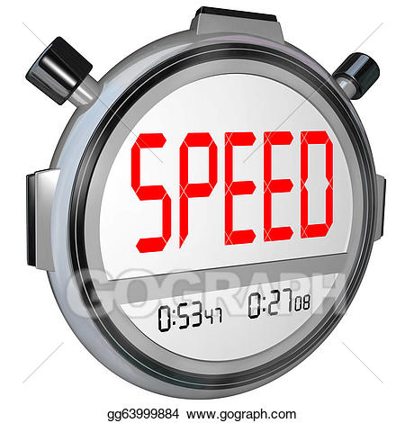 Stopwatch clipart racing. Stock illustration speed word