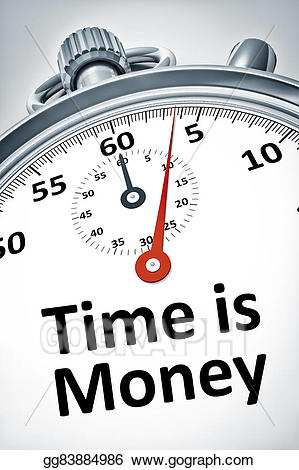 With text is money. Stopwatch clipart reaction time