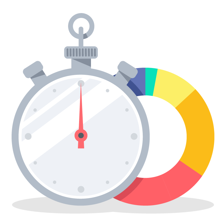 Time tracking momenteo calendar. Stopwatch clipart track