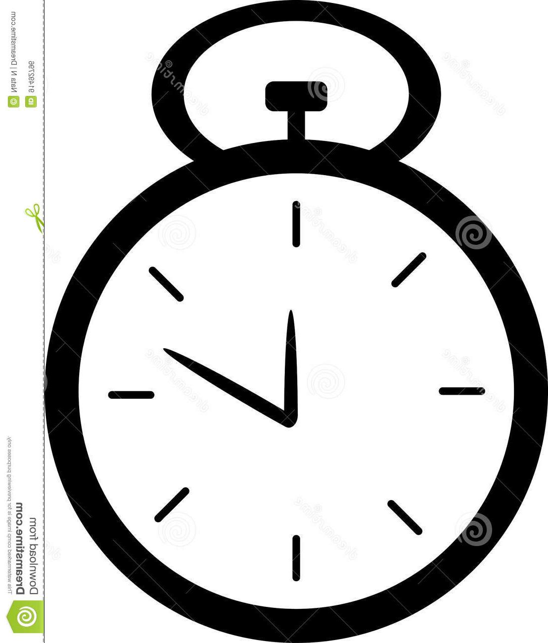 Best hd black and. Stopwatch clipart vector