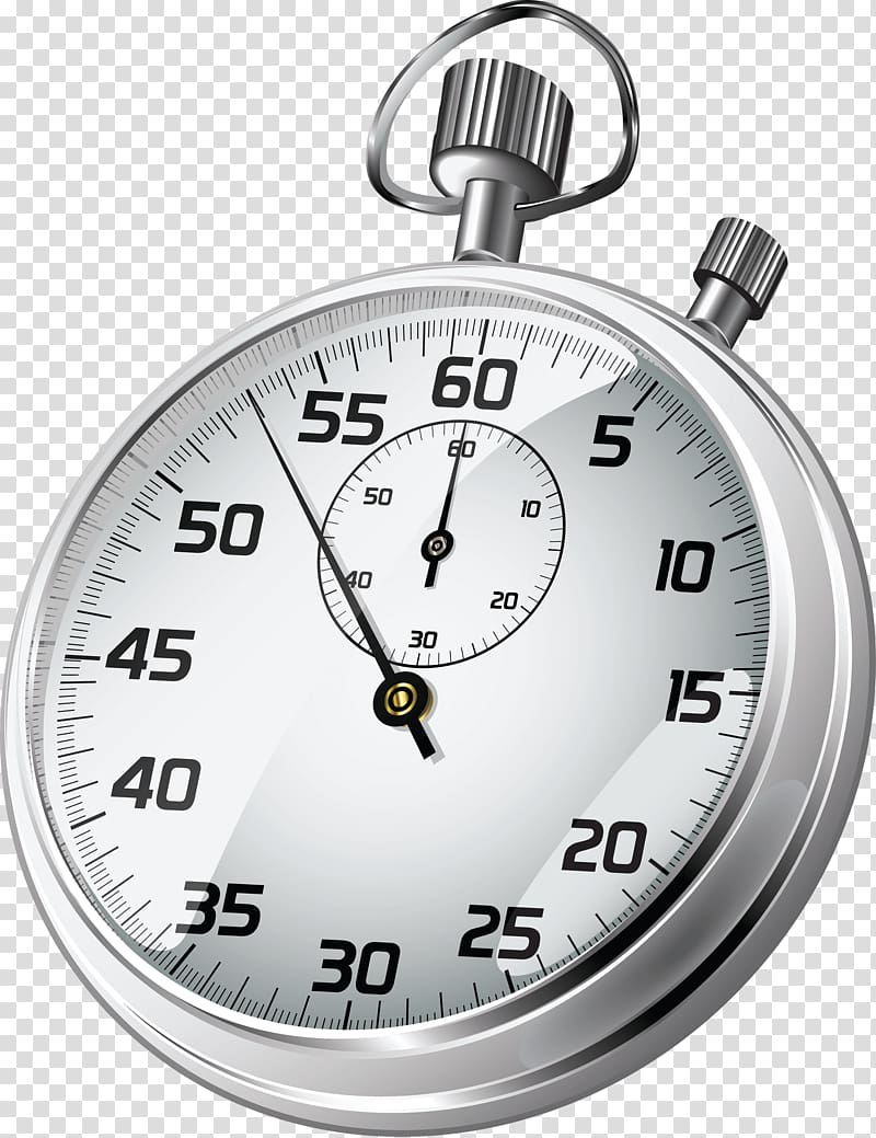 Stopwatch clipart watch. Round gray analog timer