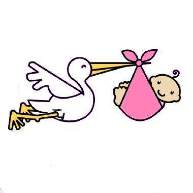 It s a girl. Stork clipart