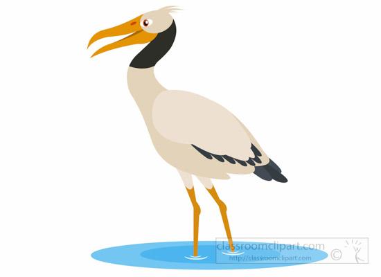 Stork clipart. Animal bird wood woodstorkbirdclipartjpg