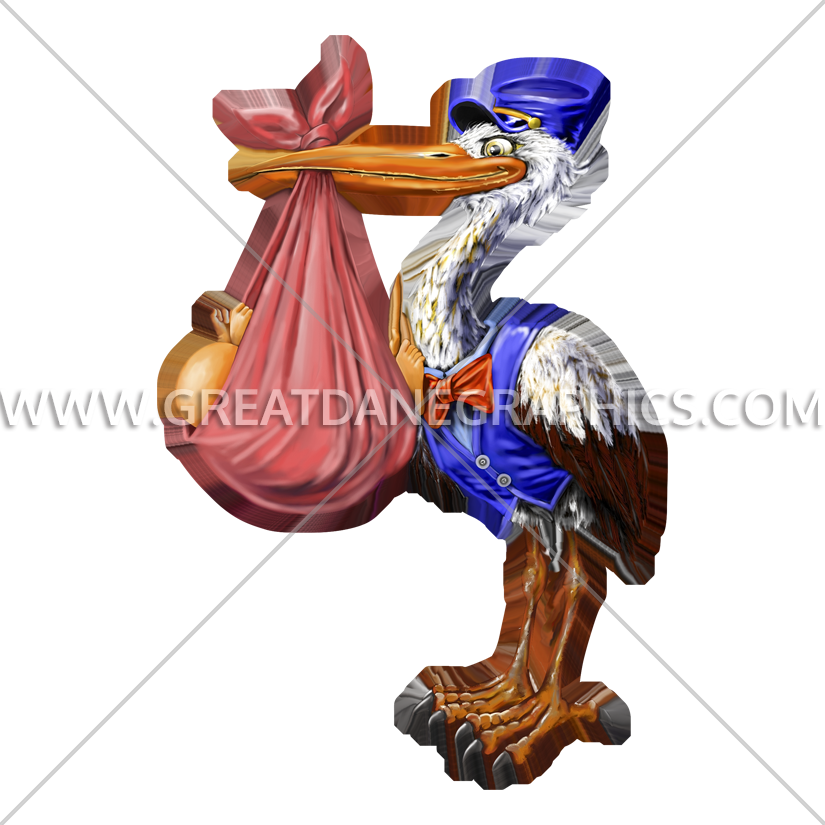 Production ready artwork for. Stork clipart standing